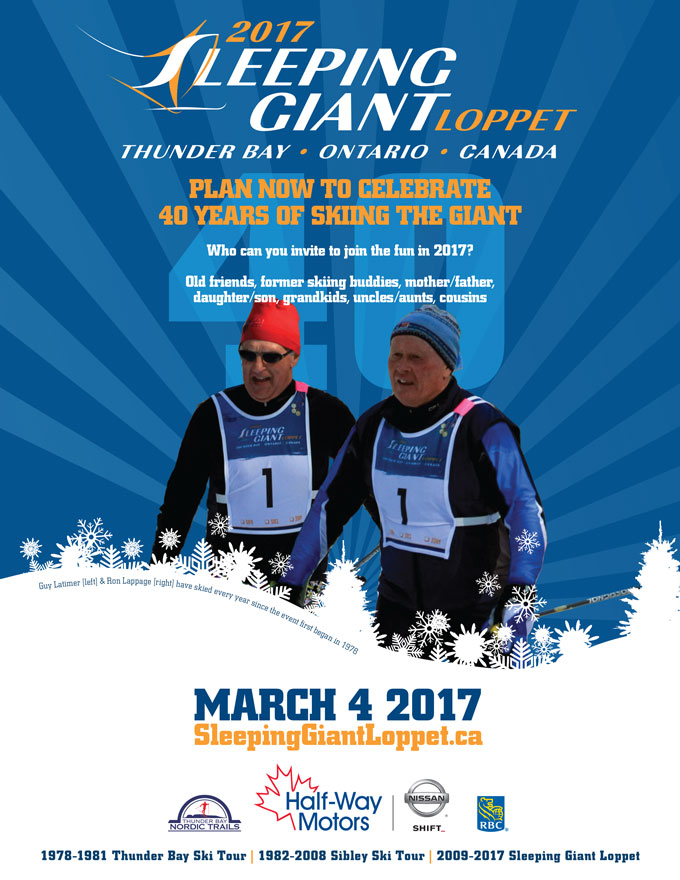 join us in 2017 - 40 years of skiing the giant!